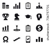 16 vector icon set   coin stack ... | Shutterstock .eps vector #736757731