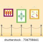 art gallery in the museum in... | Shutterstock .eps vector #736758661