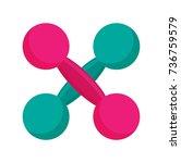 a pair of dumbbells  vector... | Shutterstock .eps vector #736759579