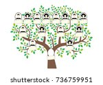 family tree and nameplate.... | Shutterstock .eps vector #736759951