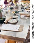 culinary school  professional... | Shutterstock . vector #736760299