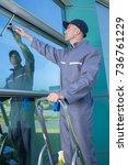 Man Window Cleaner Worker