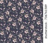 floral pattern | Shutterstock .eps vector #736761589