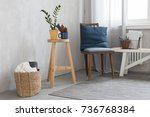cute interior with chair | Shutterstock . vector #736768384