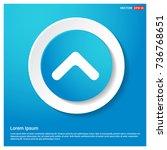 upper arrow icon | Shutterstock .eps vector #736768651