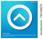 upper arrow icon | Shutterstock .eps vector #736768675