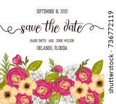 wedding invitation card suite... | Shutterstock .eps vector #736772119