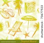 tropical beach resort   vector... | Shutterstock .eps vector #73677523