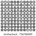 media icons | Shutterstock .eps vector #736780009