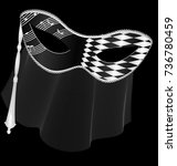 dark background and carnival... | Shutterstock .eps vector #736780459