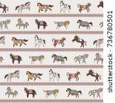 horse doodle illustration... | Shutterstock . vector #736780501