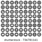 weather icons | Shutterstock .eps vector #736781161