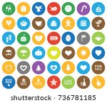 holiday icons | Shutterstock .eps vector #736781185