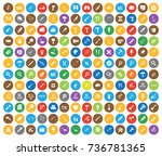 tools icons | Shutterstock .eps vector #736781365