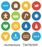 christmas icons | Shutterstock .eps vector #736782505