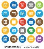 calendar icons | Shutterstock .eps vector #736782601