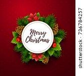 christmas background. vector... | Shutterstock .eps vector #736784257
