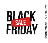 three color graphic sale banner ... | Shutterstock .eps vector #736788799