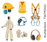 personal protective equipment... | Shutterstock .eps vector #736793161