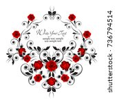 wedding card or invitation with ...   Shutterstock .eps vector #736794514