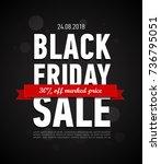 black friday sale inscription... | Shutterstock .eps vector #736795051
