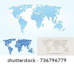 maps globe earth contour...   Shutterstock .eps vector #736796779