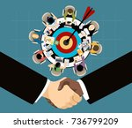 flat design illustration... | Shutterstock .eps vector #736799209