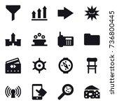 16 vector icon set   funnel ... | Shutterstock .eps vector #736800445