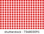 red gingham seamless pattern....   Shutterstock .eps vector #736803091