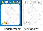 preschool worksheet for... | Shutterstock .eps vector #736806199