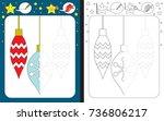 preschool worksheet for... | Shutterstock .eps vector #736806217