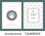 christmas greeting card design... | Shutterstock .eps vector #736808329