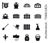 16 vector icon set   shop... | Shutterstock .eps vector #736811821