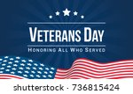 veterans day vector... | Shutterstock .eps vector #736815424