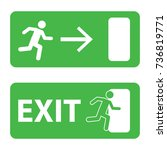 exit icon  | Shutterstock .eps vector #736819771