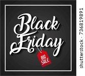 black friday big sale handmade... | Shutterstock .eps vector #736819891