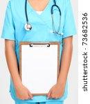 Medical Doctor Or Nurse Holdin...