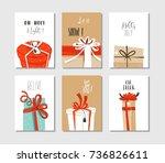 hand drawn vector abstract fun... | Shutterstock .eps vector #736826611