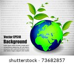 globe and the internet... | Shutterstock .eps vector #73682857