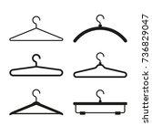 clothes hanger icons set. vector | Shutterstock .eps vector #736829047