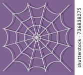 spiderweb icon  vector... | Shutterstock .eps vector #736838275