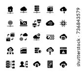 network hosting icon set in... | Shutterstock .eps vector #736843579