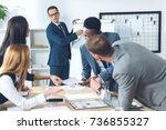 businesspeople having... | Shutterstock . vector #736855327