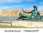 the royal palace of versailles... | Shutterstock . vector #736861699