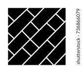 parquet icon  vector... | Shutterstock .eps vector #736866079