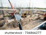 working at height equipment.... | Shutterstock . vector #736866277