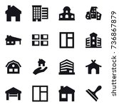 16 vector icon set   home ... | Shutterstock .eps vector #736867879