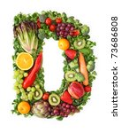 Fruit And Vegetable Alphabet  ...