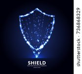 shield  a symbol of protection... | Shutterstock .eps vector #736868329