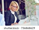 close up portrait of active...   Shutterstock . vector #736868629